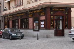 La fachada del local